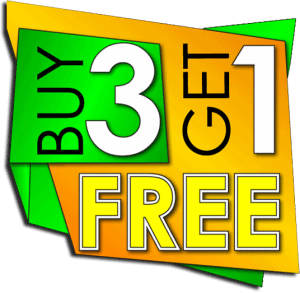 buy 3 get 1 fre button