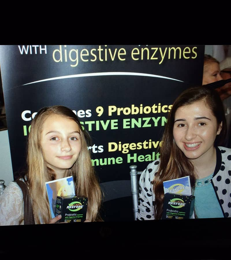 Sisters Sophia & Victoria Straus love their probiotics with enzymes